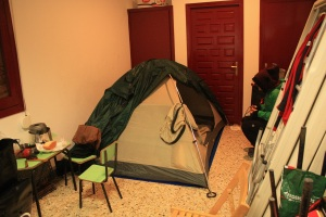 lugar que nos dejaron para acampar en Latasa
