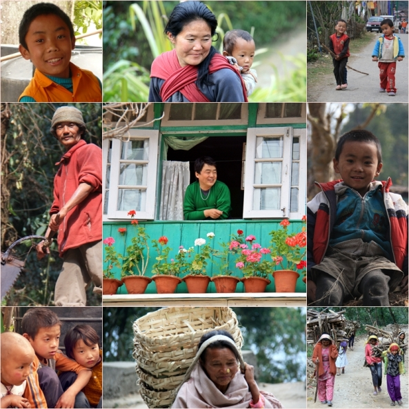 mosaico sikkim gente